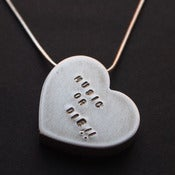 "Image of Necklace - My heart says... ""MUSIC OR DIE!!"""