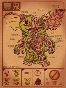 Image of Anatomy Of The Mogwai Print
