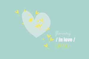 Image of Carte Flowery / IN LOVE / Spring - EDITION LIMITEE