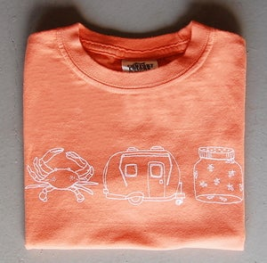 Image of Summer Medley Children's Tee MANGO