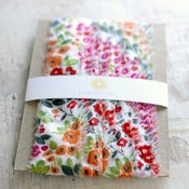 Image of  Red Flowers Fabric Ribbon