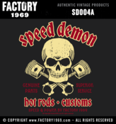 Image of Speed Demon skull & pistons 001 - SD004A