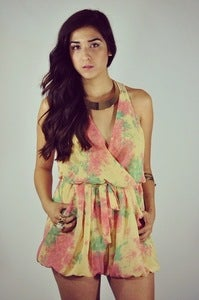 Image of Tie Dye Playsuit 