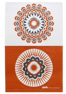 Image of Darjeeling Tea Towel - Tangerine Dream