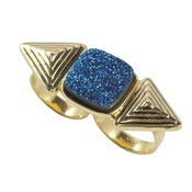 Image of Cleo Ring- Blue Druzy