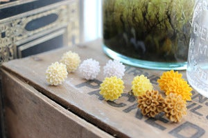 Image of Chrysanthemum Earrings // Yellows & Neutrals