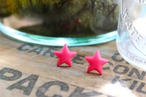 Image of You're A Star Earrings // Reds and Pinks