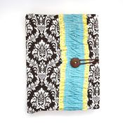 Image of covered notebook - chocolate damask