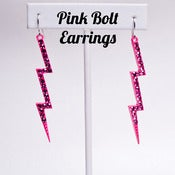 Image of Pink Bolt Earrings