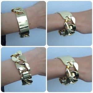 Image of Gold ID Chain Bracelet