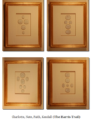 Image of Framed intaglios, set of four