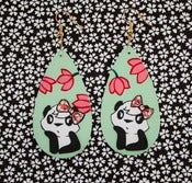 Image of *sigh...* panda cutie earrings