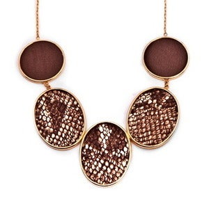 Image of Brianna Necklace - Chocolate Python