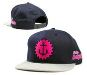 "Image of NEW! Pink Dolphins ""Anchor Splash"" Snapback Hat Collection"
