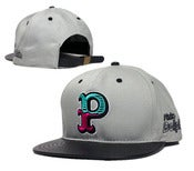 "Image of NEW! Pink Dolphins ""Jumbo P"" Snapback Hat Collection"