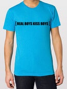 Image of Neon Blue Real Boys Kiss Boys