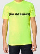 Image of Neon Yellow Real Boys Kiss Boys