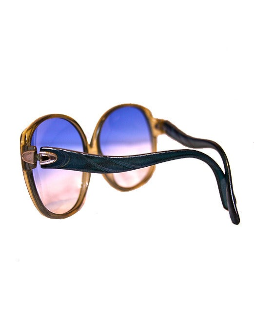 Image of Vintage Blue Christian Dior Sunglasses