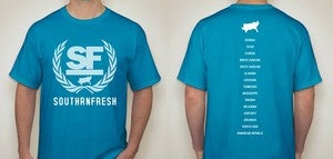Image of Caribbean Blue Southrnfresh Crest Shirt