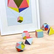Image of Polyhedra Garland 'Cut &amp; Fold' Kit