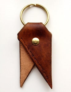 Image of Chestnut Running Stitch Bookmark Key Chain