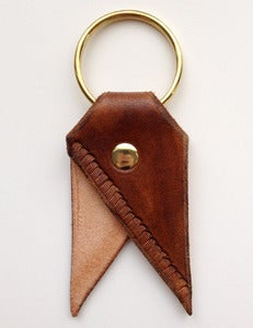 Image of Chestnut Fringe Bookmark Key Chain