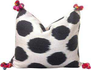 Image of Ikat Pom Pom Pillow