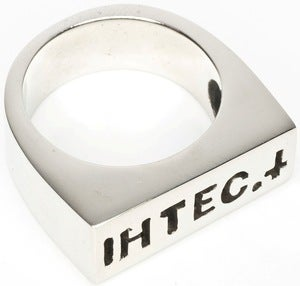 Image of IHTEC Slim - White Bronze Ring