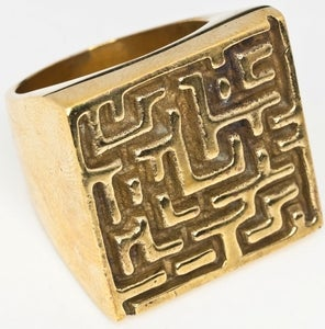 Image of Maze - Brass RIng