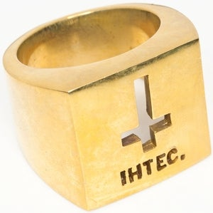 Image of IHTEC Crucifix - Brass Ring