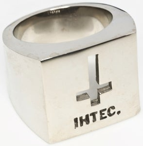 Image of IHTEC Crucifix - White Bronze Ring
