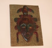 Image of Vintage Small African Wall Hanging