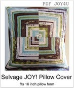 Image of Selvage JOY Pillow Cover