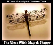 Image of Metal Wall Dragonfly Totem Home Décor (BT)