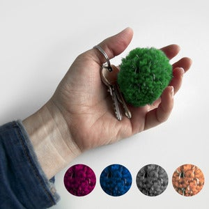 Image of POMPOM KEYRING &lt;br&gt; LFLECT REFLECTIVE