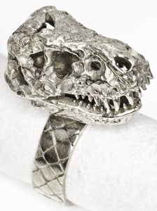 Image of T Rex - White Bronze Ring