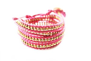 Image of FLAMINGO Leather Wrap Bracelet