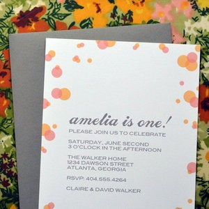 Image of Confetti Party Invitation
