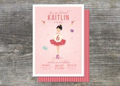 Image of Ballerina Party Invitation (10)
