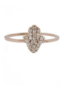 Image of ROSE GOLD HAMSA RING
