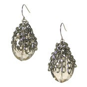 Image of caviar cap earring: smoky/gunmetal