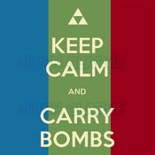 Image of KEEP CALM AND CARRY BOMBS