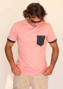 Image of SEN NO SEN pocket t-shirt pink/navy