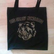 Image of Big Scary Monsters bear tote bag