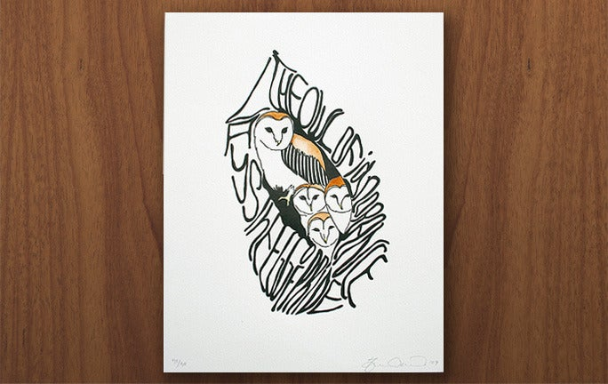 Image of Barn owl print