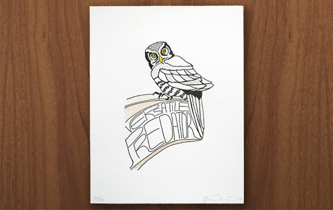 Image of Owl print