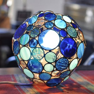 Image of Bubble Lamp, Blue as the Sea