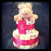 Image of 2-Tier Pink Polka Dots &lt;br&gt;(Baby Girl)