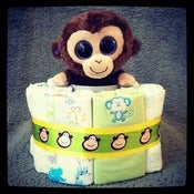 Image of 1-Tier Monkey&amp;Green &lt;br&gt;(Baby Neutral)