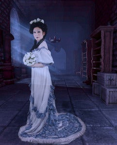 Image of Upcyled Vintage Dyed Ghost Bride Victorian Gown Each Piece one of a Kind!